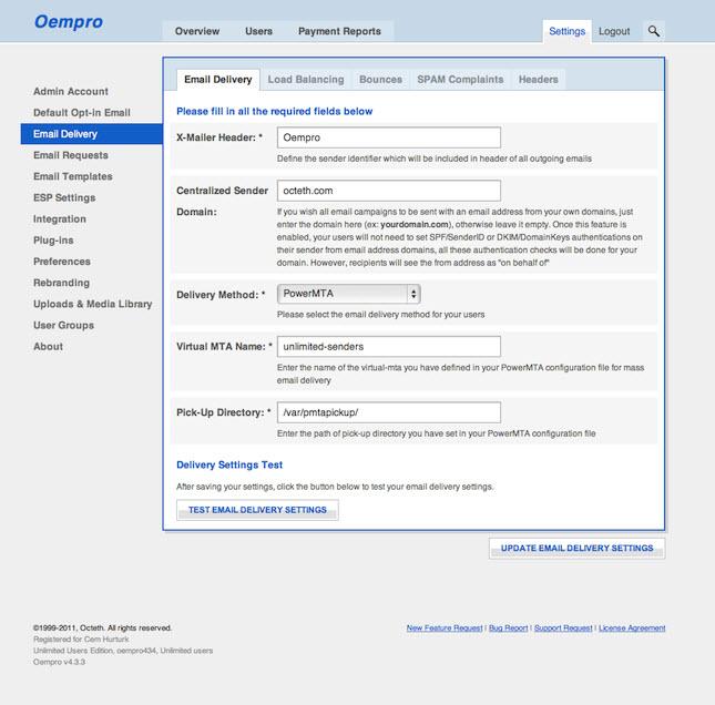 配置 Oempro 通过 PowerMTA 群发邮件