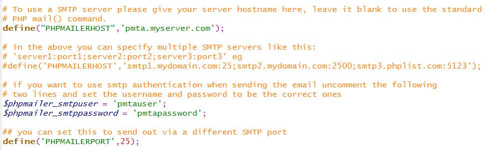 配置 Phplist 通过 PowerMTA 群发邮件